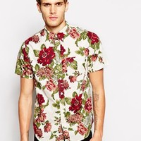 Denim & Supply Classic Shirt in Cream Floral