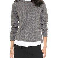 Shades of Grey by Micah Cohen Quilted Sweatshirt