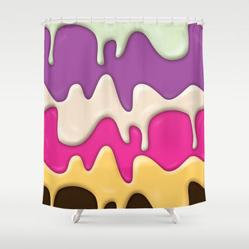 Melting Ice Cream Shower Curtain by Ornaart | Society6
