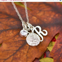 Labor Day Sale Scorpio Pendant - Astrology Jewelry - Horoscope Jewelry - Scorpio Jewelry - Horoscope Necklace - Astrology Jewelry