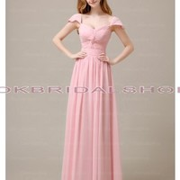 pink prom dresses, cap sleeve prom dress, chiffon prom dresses, long prom dress, affordable prom dress, blush pink prom dress, elegant prom dresses, homecoming dress prom