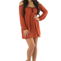 That's Where It's At Dress: Burnt Orange
