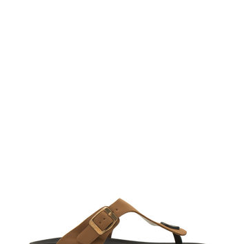 Button 'N Buckle Thong Sandals