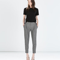 MIXED FABRIC WAIST TROUSERS