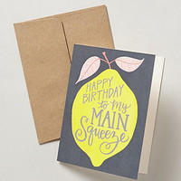 Main Squeeze Birthday Card by Anthropologie Yellow One Size Gifts