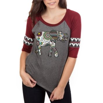 Living Doll Juniors Printed Top with Elephant Graphic at Von Maur
