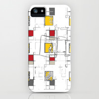 SKETCH SQUARES iPhone & iPod Case by  ECOLARTE