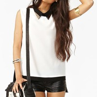 Studded Colorblock Blouse