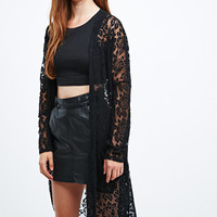 Pins & Needles Rose Burnout Cardigan in Black - Urban Outfitters