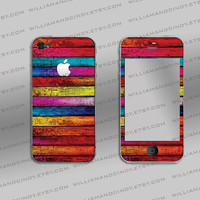 iphone 4s cover - Fruity Wood