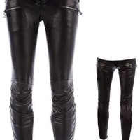 Extraordinary Womens Balmain Leather Pants