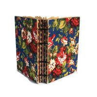 French Country Floral Journal with Coptic Binding