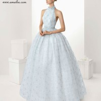 2012 Halter top beach light blue wedding dress, View light blue wedding dress, Amelie Product Details from Yiwu Amelie Import And Export Co., Ltd. on Alibaba.com