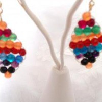 Multi Colour Gemstone Earring Handm.. on Luulla