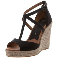 Lucky Women`s Larissa Wedge Sandal,Black,10 M US