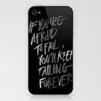 failingforever iPhone &amp; iPod Skin by WRDBNR | Society6
