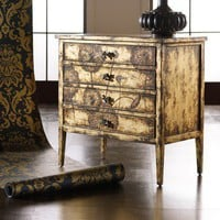 Hooker Furniture Melange Cache Chest in Matte Gold Finish