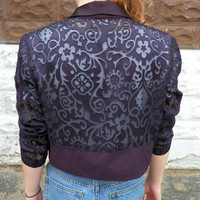 Deep Purple Lace Blazer