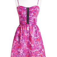Abstract Hook & Eye Dress