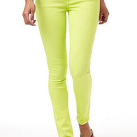 Britt Low-Rise Skinny Jean Yellow