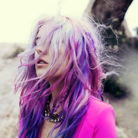NEW /   MYSTIC   shades of purple  / pastel/ dip dye / free people inspired/ hair wefts/ hair dye/ hilights/ (2) human hair extensions