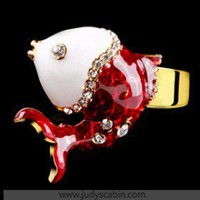 IDee Diamond Red Carp Cocktail Ring - Cocktail Ring - Rings