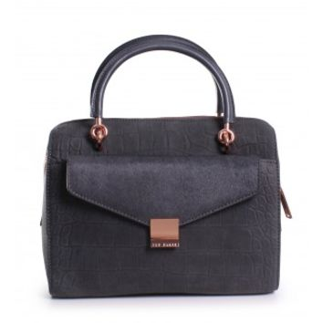 Ted Baker Alexia Removable Clutch Small Bowler Bag in Grey