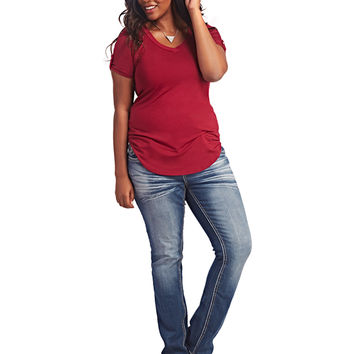 Embroidered Slim Boot Cut Jean | Wet Seal +