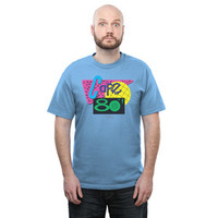 Cafe 80's T-Shirt - Baby Blue,