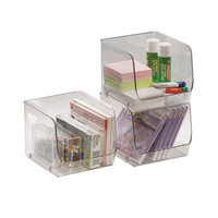 Medium Stacking Bin - Clear - 6