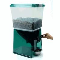 Pet Food Dispenser with Storage by Iris® - Holds 20 Pound Bag