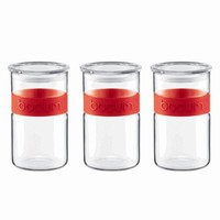 Bodum® Presso Storage Canister Set of 3 in Red
