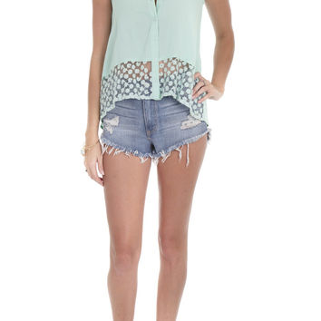 Dani Top Lace Open Back Mint – Famous Style by Stalhi Boutique