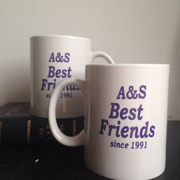 Custom best friends coffee mug set