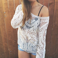 Lace Delight Top - Ivory