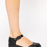 River Island Black Geek Mid Heeled Shoes