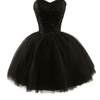 APTRO Women's Sweetheart Tulle Short Homecoming Party Dresses