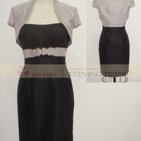 Freeshipping E62260 Silver black Taffeta tea length mother of the bride jacket dresses modest, View mother of the bride jacket dresses modest, Choiyes Wedding Dress Product Details from Chaozhou Choiyes Evening Dress Co., Ltd. on Alibaba.com