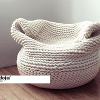 """Bdoja"" hand knitted lounge chair"