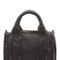 Alexander Wang Black Pebbled Leather Rockie Duffle Bag