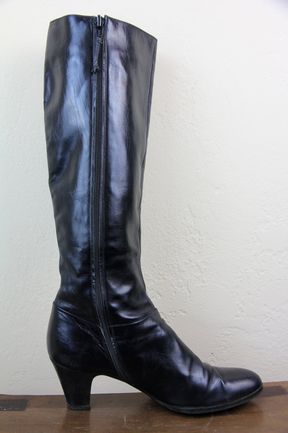 italian leather sleek black boots s from
