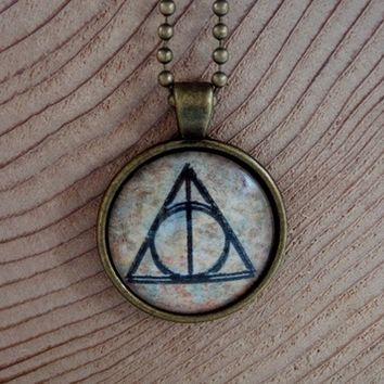 Always Deathly Hallows Necklace. 18 Inch Chain. from Evangelina's Closet