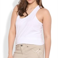 Plus Size Reign Khaki Short with Western Embroidery
