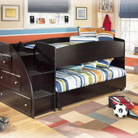 Geneva Espresso Mid High Loft Bed
