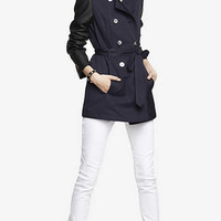 (MINUS THE) LEATHER SLEEVE TRENCH COAT from EXPRESS