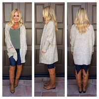 Cozy Up Knit Cardigan - OATMEAL