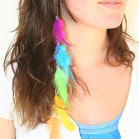 Thin Rainbow Feather Hair Clip Soft Latest Popular by HaleyLouise