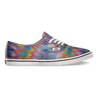 Vans Women Authentic Lo Pro Shoes Rainbow/White