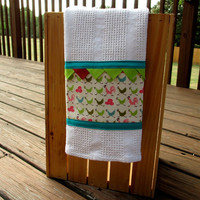 Kitchen Towel- Rooster and Chickens