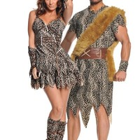 Caveman & Cavewoman Couples Costume- Party City